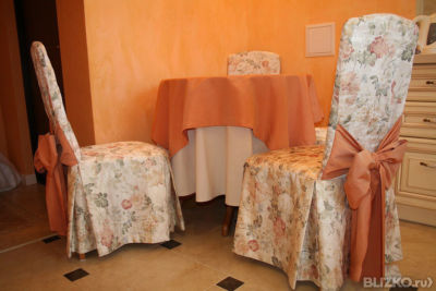 Фото чехлы на стулья со спинкой своими руками фото
