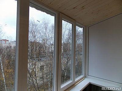 """Пластиковое остекление балкона в """"сталинке""""с крышей от комп."""