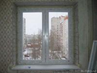 Окно пвх кве 70 одностворчатое четырехкамерное деревянный до.