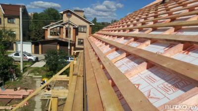 Обрешетка четырехскатной крыши
