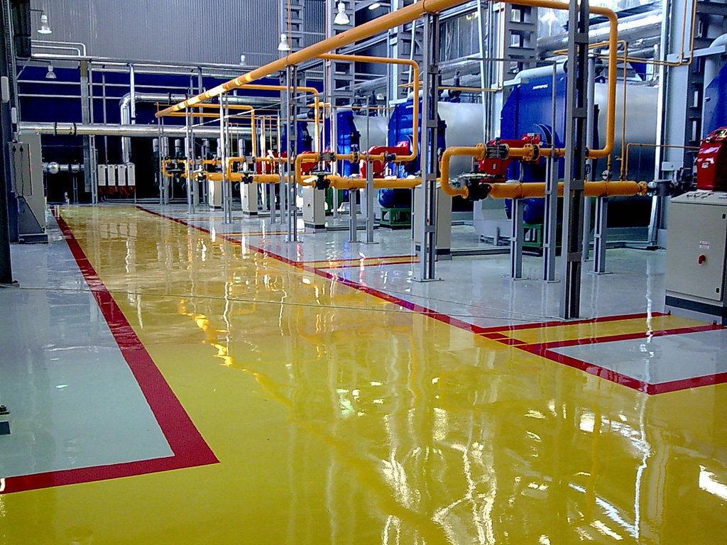 Полимерный пол для промышленных помещений