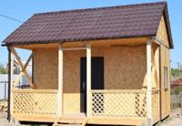 Каркасный дачный дом 5 м х 4,5 м х 4 м.
